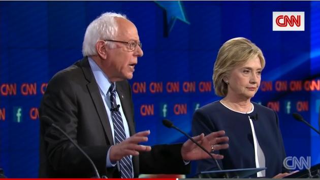 DebateSandersClinton